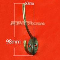 K265 double hook metal  coat hooks key  bag hook vintage retro finishing clothes