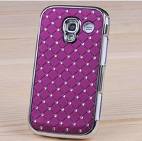 2013 new For Samsung Galaxy S3 Mini i8190 Case Cover i8190 Luxury Diamante Diamond Bling Chrome,8 colors RT025