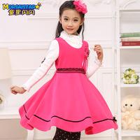 2013 children's female child autumn clothing child princess dress baby child autumn one-piece dress