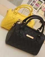 New 2013 Brand Mango women's Messenger Bags Plaid Bucket Bag Handbag Portable Women Leather Handbag Drop ship Clutch Totes Items