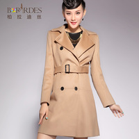 2013 autumn and winter fashion cashmere overcoat female medium-long wool woolen outerwear