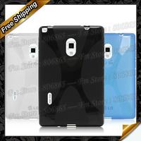 Optimus Vu 3S X-type tpu case, New High Quality X line TPU Gel Case For LG Optimus Vu 3 by DHL Free Shipping
