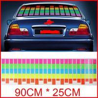 90 x 25cm Sound Music Activated EL Sheet Car Sticker Equalizer Glow Flash Panel led Multi Color Decorative Light car Accessories