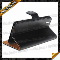 For Xperia Z1 mini  Wallet case, High quality Wallet Genuine Leather Case For Sony Xperia Z1 mini