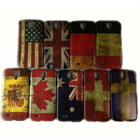 Retro National Antique Scrub National Flag Hard Plastic Case Cover For Samsung Galaxy S4 i9500, 10pcs/lot, Free Shipping
