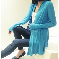 Free shipping fall 2013 Slim spring autumn Korean women female  loose sweater cardigan sweater  prevented bask in clothes