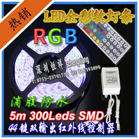 Colorful led strip 1 meters 60 lamp 5 meters color changing rgb waterproof flexible strip 5050 44 key controller