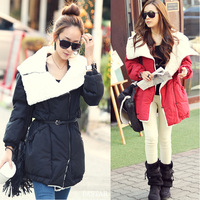 Free Gift 2013 large fur collar berber fleece female plus size female berber fleece