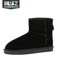 Buz low flat heel genuine leather cow muscle boots outsole male lovers design snow boots boots