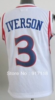 Free Shipping,#3 Allen Iverson Kids/Youth Basketball Jersey,Sports Jersey,Embroidery and Sewing logos,Size S--XL,Mix Order
