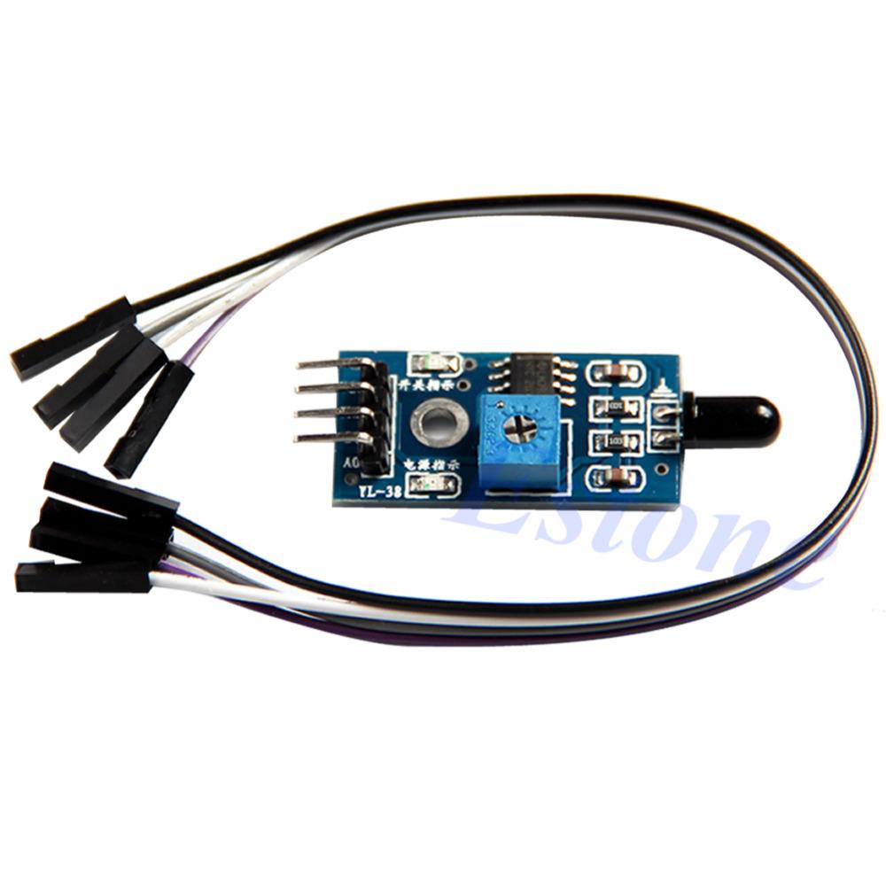 A31 On Sale 1PC Wavelength 760nm-1100nm LM393 IR Flame Fire Sensor Module Board For Arduino Wholesale(China (Mainland))
