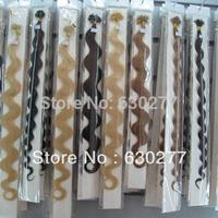 I-tip hair extension dark color 18inch 1gram per pieces  $0.53/pc  dark color MOQ 300pieces