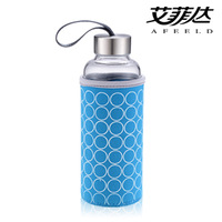 Cold water cup glass sports water bottle car cup mineral water bottle cup male women's glass cup