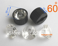 50x Led Lens 60 Degree For 1w 3w Lamp & Black Holder