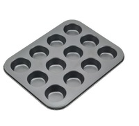 Free Shipping 12 Cup Non-stick Cake Mould Mini Cake Mold Coating Bakeware.457