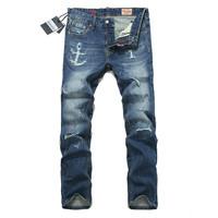 Free shipping 2013 tide men jeans men jeans latin hole cattle tide rotten beggar pants pants Edison endorsement
