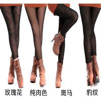 Plus Size Girls Fleece Inside Warm Pantyhose Leggings Back Footless Hosiery NEW Ladies  One size fits most 90-160 lbs   6 STYLES