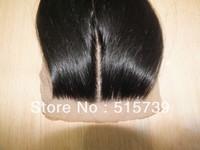 Natural Scalp brazilian virgin hair middle part silk base closure 4x4 three part silk straight lace front closure