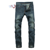 Free shipping 2013 new winter men's jeans Slim Straight Men Jeans Washed retro style simple models in Europe and America