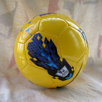 Free shipping 2013 hot sales official size 5 soccer ball/football/TPU material/match soccer ball/yellow colour