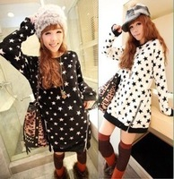 Autumn loose plus size clothing pattern zipper domesticated hen medium-long female sweatshirt fleece 2 5 x