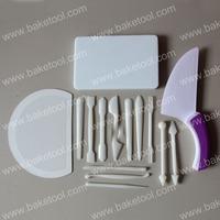 Free shipping,Plastic Fondant & Gum Paste Tool Set,Cake Decorating Tools,Cake Molds