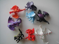 cool style Dragon monster pvc toy  100pcs/lot  boy gift