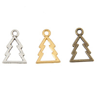 MIN Order(mix 10$)Tibetan Silver/Bronze Plated/Gold Plated(180PCS)Christmas tree Charms(1789#)18*13mm