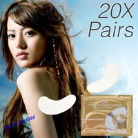 Free Shipping New 20Pairs Anti-Wrinkle Dark Circle Gel Collagen Under Eye Patches Pad Mask Bag
