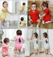 2013 hot sale Baby romper polo baby One-PieceTriangle Romper short sleeve one-piece jumpsuit 4 colors