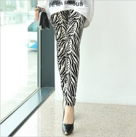 Women Popular zebra Print Animal Pattern Ankle Length Footless Legging Tregging