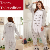 Totoro Adult Onesies Flannel Winter Sleepwear Cartoon Animal Pyjamas Cosplay One-piece Pajamas Halloween Costumes for Women