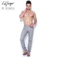 Igogo 2013ecaful bias-cut high temperature fluid slim casual pants
