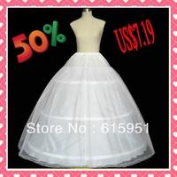 NEW Petticoat Crinoline 3-Hoop-1Layer BRIDAL dress PETTICOAT/CRINOLINE UNDERSKIRT Bridal Accessories JY11416