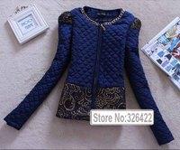 2014 Parkas For Women Winter Coat Jacket Women Outerwear Lace Patchwork Plus Size Short Down Jacket Parka Jaqueta Feminina