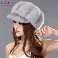 Winter 2013 millinery hat fur hat mink full leather cap millinery m1318
