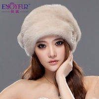 2013 winter hat mink millinery beret women's fur hat millinery m1201