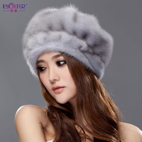 Winter 2013 millinery hat fur hat mink leather hat millinery m1317