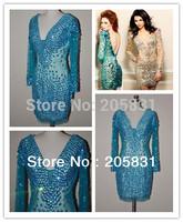 Sexy 2014 New Arrival Sparkle Sheath Mini Cocktail Dresses Real Photo Dress OC3028