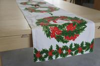 Free shipping vera christmas wreath table cloth table runner 36*178cm