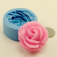 Nicole mini silica gel mould single hole 3.8cm flower ice sculpture salt sculpture resin flower handmade soap mould