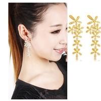 2013 New Style Snowflake Full Rhinestone Shape Dangle Earrings Ladies Earrings