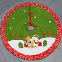 Christmas tree skirt 120cm quality three-dimensional christmas tree skirt Christmas 500 decoration