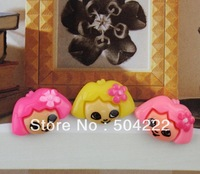 200pcs 20mm kawaii colorful Dora the Explorer flat back Resin Cab Cabochon for craft accessories kitsch decoden hair bow center