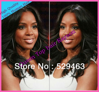 Free Shipping peruvian Virgin Hair Front Lace Wig/Full Lace Wigs wavy hair  for black women 130%-180% Density Bleach Knots