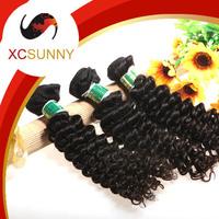 2014 XCSUNNY 5A Unprocessed 12-26Inch 3pcs Mix Length Deep Wave 100%Peruvian Virgin Remy Human Hair Weft Weave 100g/pcs PVH020