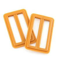 20pcs Orange Plastic Resin Coat Dress Belt 6.3*3.8cm Buckles 111697