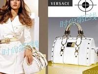 2014 new fashion brand bags designer women's speedy handbag purse black white shoulder bag
