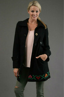 "2013 !! New Desigual ""Nunei"" 17E2960 Womens Black coat  free shipping size 36-38-40-42-44-46"