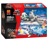 Cartoon Cars Escape from Sea Bela 10011 building blocks 3D DIY assembling educational toys;Compatible with LEGO;FREE SHIPPING